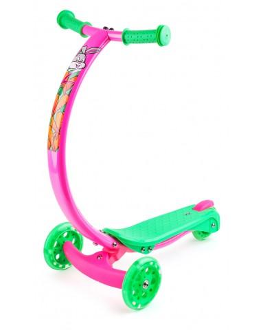 Самокат с изогнутой ручкой и светящимися колесами Zycom Zipster (Зайком Зипстер) (зайчики)