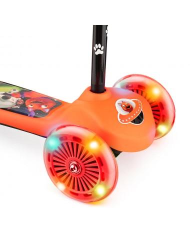 Самокат со светящимися колесами 2 в 1 Small Rider Scooter Flash (CZ) (оранжевый)