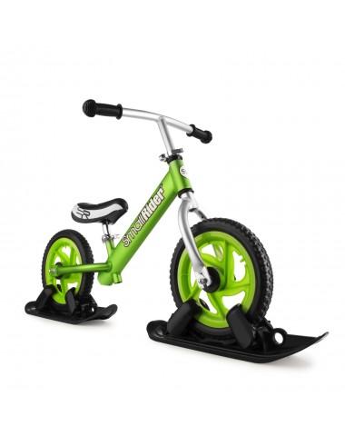 Combo Drift - Беговел из алюминия с лыжами и колесами Small Rider Foot Racer EVA (зеленый)