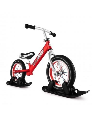 Combo Drift - Беговел из алюминия с лыжами и колесами Small Rider Foot Racer AIR (красный)
