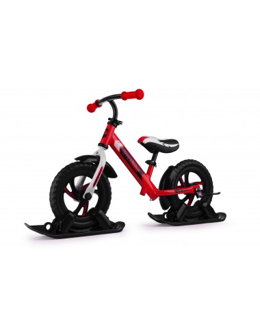 Combo Drift - Беговел из алюминия с лыжами и колесами Small Rider Roadster 2 EVA (красный)