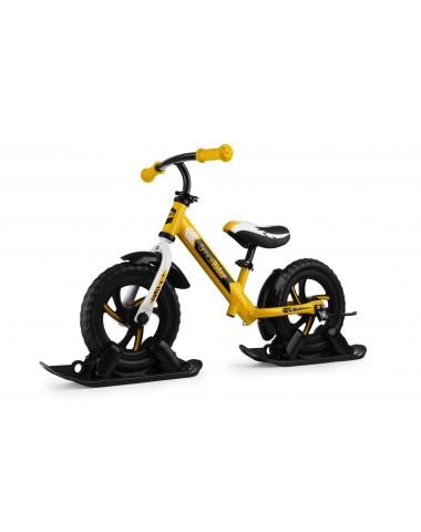 Combo Drift - Беговел из алюминия с лыжами и колесами Small Rider Roadster 2 EVA (желтый)
