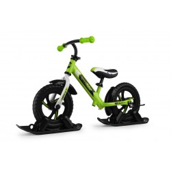 Combo Drift - Беговел из алюминия с лыжами и колесами Small Rider Roadster 2 EVA (зеленый)