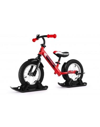 Combo Drift - Беговел из алюминия с лыжами и колесами Small Rider Roadster 2 AIR (красный)