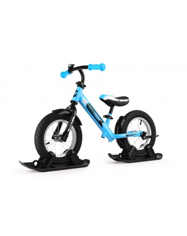 Combo Drift - Беговел из алюминия с лыжами и колесами Small Rider Roadster 2 AIR (синий)