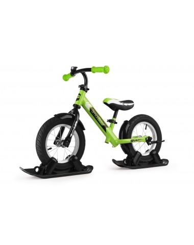 Combo Drift - Беговел из алюминия с лыжами и колесами Small Rider Roadster 2 AIR (зеленый)
