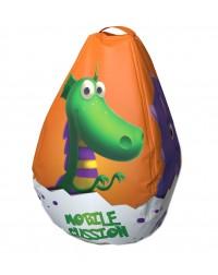 Мешок-рюкзак-подушка, спинка для тюбингов ST4, Small Rider Bags Динозаврики (оранжевый)