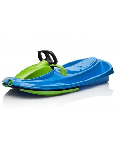 Детские пластиковые санки-снегокат c рулем и тормозом Gismo Riders Stratos (Чехия) (сине-зеленый)