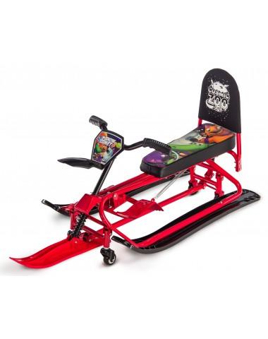 Детский снегокат-трансформер с колесиками и спинкой Small Rider Snow Comet 2 (красный)