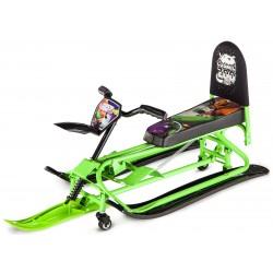 Детский снегокат-трансформер с колесиками и спинкой Small Rider Snow Comet 2 (зеленый)