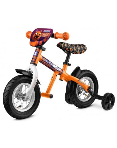 Легкий алюминиевый беговел с колесиками и подножкой Small Rider Ballance 2 (оранжевый)