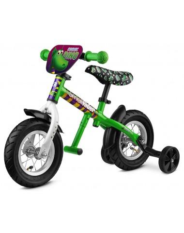 Легкий алюминиевый беговел с колесиками и подножкой Small Rider Ballance 2 (зеленый)