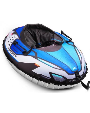 Надувные санки-тюбинг с сиденьем и ремнями Small Rider Asteroid Sport (синий)