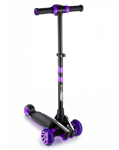 Самокат с ревом мотора, свет.колесами, свет.платформой Small Rider Premium Pro 2 (фиолетовый)