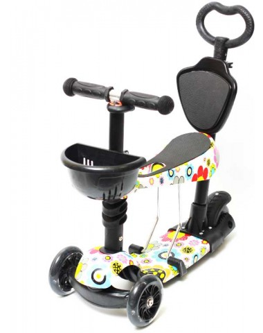Самокат scooter  5в1 ромашки