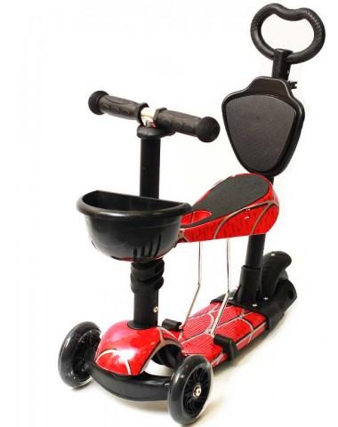 Самокат scooter  5в1 человек паук