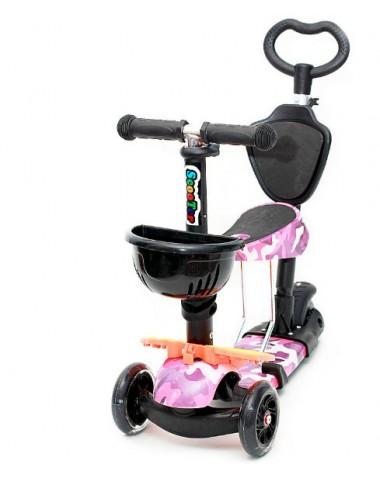 Самокат scooter  5в1 военный розовый