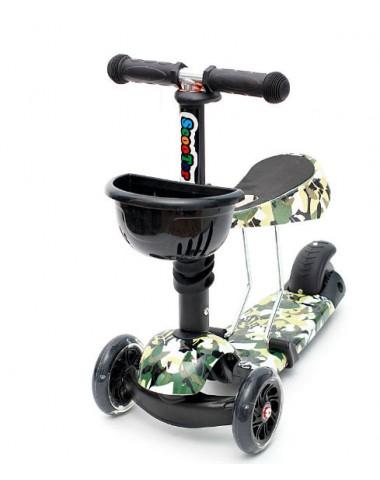 Самокат scooter  3в1 военный
