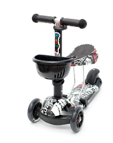 Самокат scooter  3в1 черно-белый