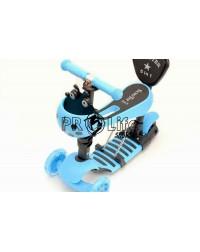 Самокат scooter 5в1 божья коровка голубой
