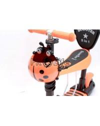 Самокат scooter 5в1 божья коровка оранжевый