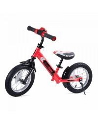 Беговел с ревом мотора, светодиодами и надувными колесами Small Rider Roadster 2 AIR Plus NB (красный)