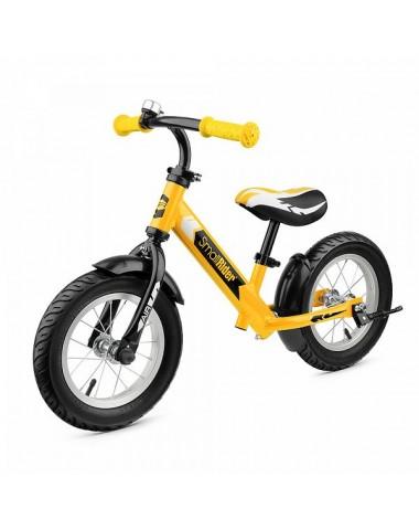 Легкий алюминиевый беговел с надувными колесами Small Rider Roadster 2 AIR (желтый)