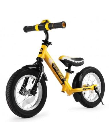 Беговел с ревом мотора, светодиодами и надувными колесами Small Rider Roadster 2 AIR Plus NB (желтый)