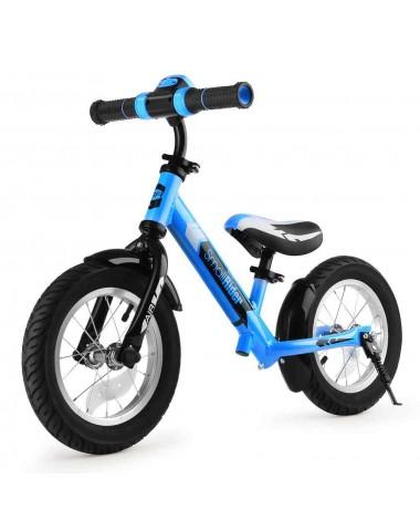 Беговел с ревом мотора, светодиодами и надувными колесами Small Rider Roadster 2 AIR Plus NB (синий)