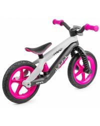Легкий детский беговел в стиле трюкового Chillafish BMXie-RS (Бээмыкси) (розовый)