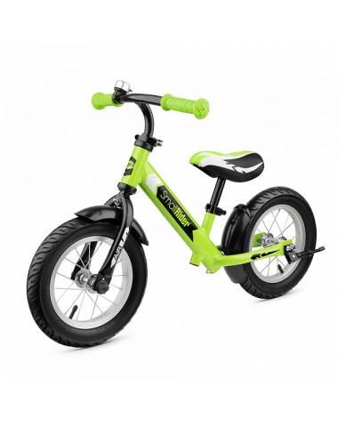Легкий алюминиевый беговел с надувными колесами Small Rider Roadster 2 AIR (зеленый)