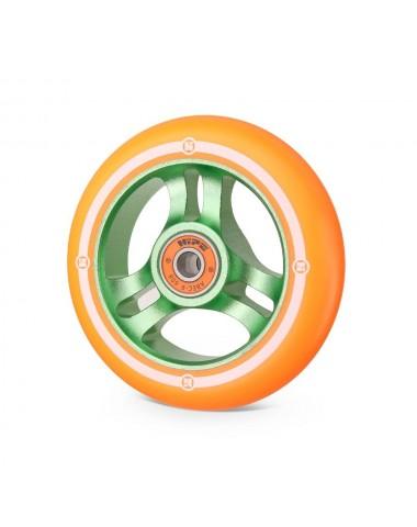 Колесо Hipe 3W 100мм зеленый/оранжевый