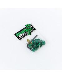 Комплект винтов Footwork SHINY GREEN шестигранник, с ключом