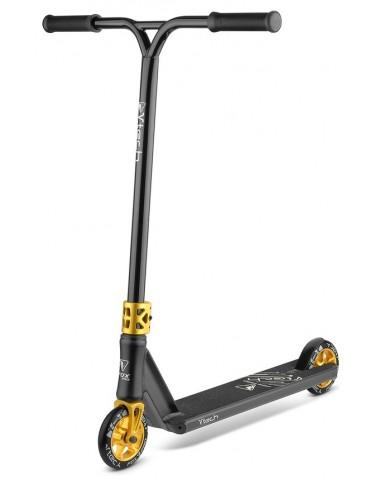 Самокат трюковый Fox Pro V-tech 120 черный-золотой