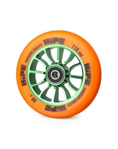 Колесо HIPE 01 110mm Зеленый/оранжевый