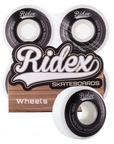 Комплект колес для скейтборда SB, 52*32, белый/черный