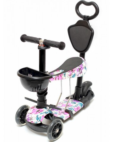 Самокат scooter  5в1 цветы
