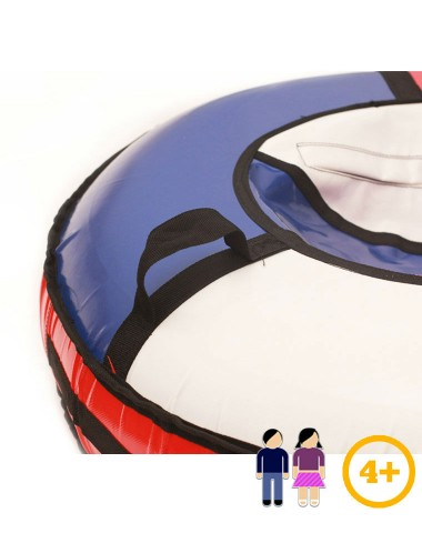 Тюбинг сине/красно/белый с бортами 80 см