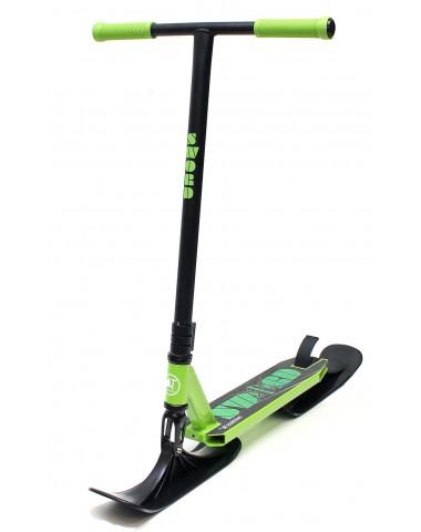 Трюковый самокат AT SWORD 2021 New с лыжами зеленый