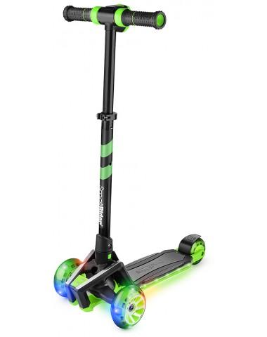 Самокат с ревом мотора, свет.колесами, свет.платформой Small Rider Premium Pro (зеленый)