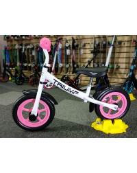 Беговел AKB-1289 Triumf Active белый с розовым колесами