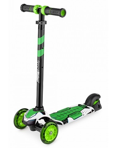 Детский трехколесный самокат со свет.колесами Small Rider Turbo (зеленый)