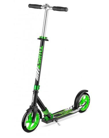 Самокат Weelz Twist  Черный/зеленый