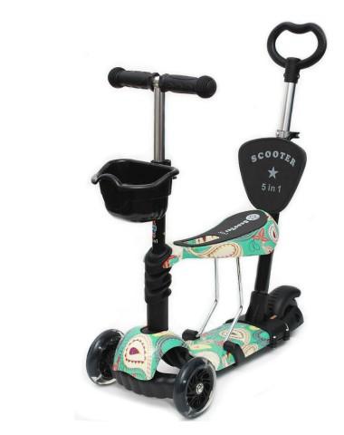 Самокат scooter  5в1 узоры