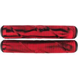 Грипсы Striker Thick Logo Pro Scooter Grips (Black/Red)