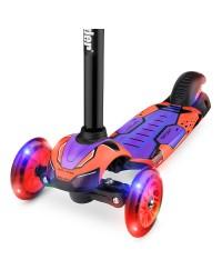 Детский трехколесный самокат со свет.колесами Small Rider Turbo (красный)