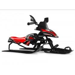 Снегокат-снегоход Small Rider Scorpion SOLO, одна лыжа спереди (черный с красным)