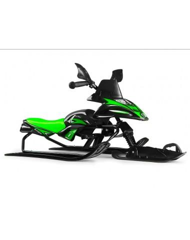 Снегокат-снегоход Small Rider Scorpion SOLO, одна лыжа спереди (черный с зеленым)