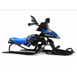Снегокат-снегоход Small Rider Scorpion SOLO, одна лыжа спереди (черный с синим)