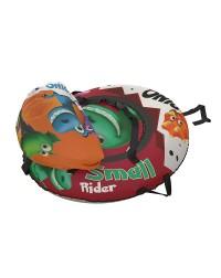 """20' Тюбинг Small Rider Snow Tubes 4 (""""Яйцо динозавра 110х95 см"""") (красный  (зеленый дино))"""